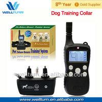 2013 New item!! Wireless remote control pet collar with big LCD display 300M range