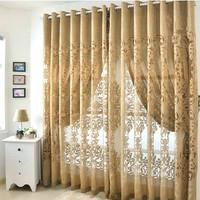 Modern fashion cutout curtain fabric quality balcony jacquard window screen mdash luxury curtains for living room