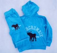 fashion boys winter/autumn clothing suits kids 100% Cotton Velvet 2pcs clothes suits kids deer pattern tracksuits for 3-11yrs