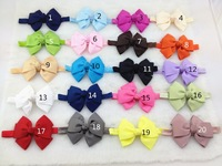 50pcs/lot 20 colors ,10 cm ribbon bows on the Baby elastic headbands, baby children accessories,hair accessories