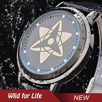 Anime Naruto Uchiha Itachi Kakashi Sasuke Fashion Water Resistant Touch Screen LED Watch