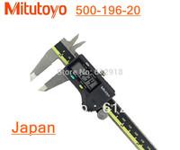 "Mitutoyo 500-196-20 Digital Caliper Stainless Steel Battery Powered Inch/Metric 0-6"" Range +/-0.001"" Accuracy 0.0005"" Resolution"