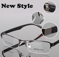 Wholesale  famous brand designer  spectacle eyeglasses metal Half-rim optical frames eyewear for men women Myopia glasses 8005