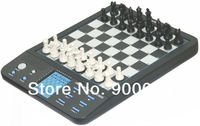 1 pc/lot Powerbrain chess computer, great for travel, Magnetic, 8 games included,LCD display free shipping