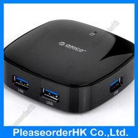 ORICO Black Portable 4 Port USB 3.0 HUB with VL812 Controller Hot-swap and PnP For PC Desktop Laptop Notebook Computer H4818-U3