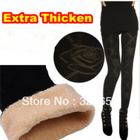 2013 Winter Fashion Spandex+Lycra Women Extra Thicken Leggings Warming Fashion Only One Velvet New Arrival Black Leggings Women