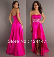 AQ Fashion formal dress low-high red evening dress