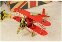 interesting home decoration iron craft nostalgic retro air fighter model office decoration business gift toy free shipping