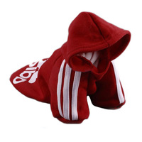 New Pet Puppy Dog  Cat Coat Clothes Hoodie Sweater T-Shirt Red Free Shipping
