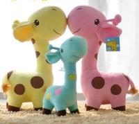 New Fashion Cute And Fat Giraffe Plush Toy Wedding Birthday Gift Deer stuffed toy 25 cm long