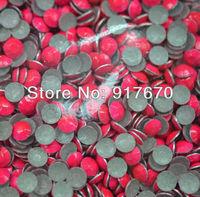 Wholesale neon 3mm Korean aluminum hot fix rhinestuds 500gross,pink nailhead octagon bead transfer fabric garment accessories