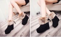 Fashion short snow boots platform 2014 ultra high heels boots wedges female shoes