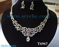 T6967,New 2013 Fashion Bridal Jewelry sets,costume crystal and Zinc alloy Jewelry set