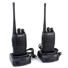 New Walkie Talkie UHF 400-470 MHz 5W 16CH Portable Two-Way Radio BAOFENG BF-388A with Free Earpiece Black