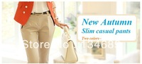 brand fashion slim high quality free   plus size black autumn -summer new 2013 pants women overall trousers women