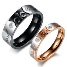 OPK Perfect Titanium Steel Men and Women Promise Ring Exquisite Designer Lover s Ring Trendy Jewelry