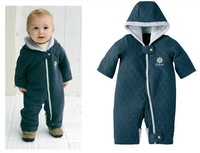 Free shipping baby thick cotton rompers boy/girl jumpsuit winter infant garment children's romper