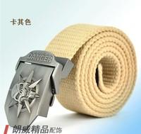 1PC Brand: zinc alloy metal ZSJAY Men strengthen canvas belt length: 110CM Width: 3.8CM black / red  green  khaki gray  brown