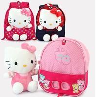 2013 Children Bags Children School Bags Hello kitty School Bag Plush Toys+School Bag Can Disassemble Free Shipping