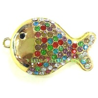 Hot Sale Crystal Fish Model USB 2.0 Enough Memory Stick Flash pen Drive 2GB 4GB 8GB 16GB 32GB
