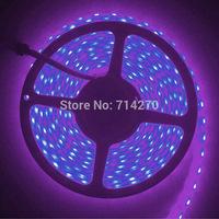 waterproof ,single purple color 60led/m 12V SMD 5050 5M  strip Flexible Light LED Strip bright festival LED lighting