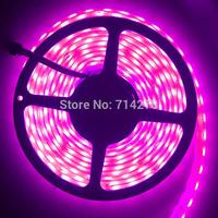 waterproof 12V 5A SMD 5050 50LED/M strip Flexible Light Strip bright festival LED lighting,single pink color