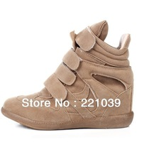 Drop Shipping Women's Sneakers Leather Boots Height Increasing Sneakers Shoes Free Shipping new