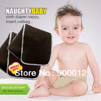 Free Shipping Charcoal Bamboo 200pcs 5 Layers(3+2) Reusable Baby Cloth Diaper pads Nappy Inserts