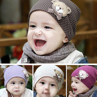 new style wholesale fashion baby hat, lovely baby bear hat, cotton baby cap, infant hat infant cap,10 pieces/lot, Free shipping
