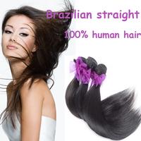 Queen hair products :brazilian virgin human hair straight ,3pcs lot hair bundle 5a natural color hair free shipping