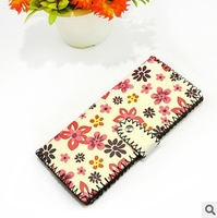 Hot Sale NEW ARRIVAL High Quality Lady's DIY Handwork Print Clutches Wallets Genuine Leather Purses Free Shipping