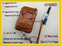 DC3.6V-DC12V 3.7V 5V 6V 12V Mini Remote Control Switch System Receiver Transmitter Learning Code Momentary Toggle Latched 315MHZ