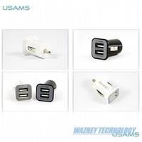 USAMS 3.1A Mini Micro auto dual double usb car charger for iPhone / iPod iPad. Samsungs3/s4/s5 *500pcs/lot