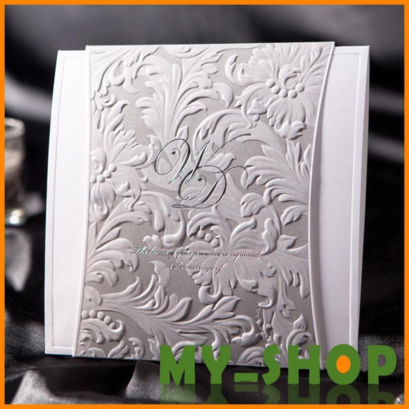 Cartão do convite do casamento de impressão para impressão Frete Grátis Wedding Laser Cut Convites elegantes HQ0010(China (Mainland))