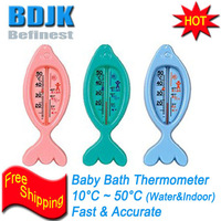 Baby Bath Thermometer with Cartoon and Colorful Picture Temperature Measuring