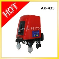 AK435 360degree self- leveling Cross Laser Level 1V1H Red 2 line 1 point HOT SALE FREE SHIPPING