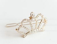 E031 sweet little pure and fresh temperament Crown hairpin edge clip free shipping!!