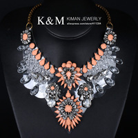 (Min order is $10) New Arrival Fashion Luxurious Cup Chain Multicolour Crystal Necklace for Women Free shipping NK-09019