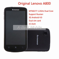 Origina  New Arrival Lenovo A800 MTK6577 1.2GHz Dual Core 3G Android 4.0 Support Russian