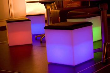 Hot led furniture! LED cube Chair bar stool 40*40*40CM