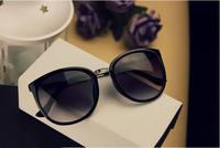 Hot Sale 2013 Unisex star big black fashion vintage Metal Eyeglass Sunglasses Eyewear Freeshipping