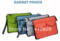 Free shipping 200pcs/lot Multi-functional storage pouch digital cellphones for iPad 234 case Galaxy Tab gadget pouch Laptop Bags