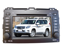 100% Quality Guarantee 2 Din  Car DVD Players For TOYOTA PRADO 2002-2009        with GPS Navigation /ipod/TV/USB/camera wholesle