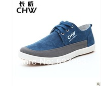 Free shipping New arrival solid color men shoes two color blue green size 39-44 flat shoes sports runner shoes breathable