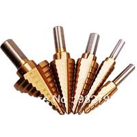 """5Pcs High speed steel STEP DOWN DRILLBITS  1/4--1-3/8""""  3/16--7/8""""1/4--3/4"""" 3/16--1/2""""  1/8--1/2"""""""