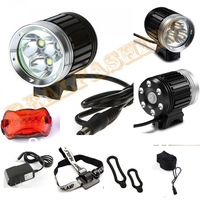 New arrival,3T6 3*CREE XML-T6 LED Bike bicycle Light kit,3600-Lumen 4-Mode,with 8.4V Battery Pack and Charger set,free shipping