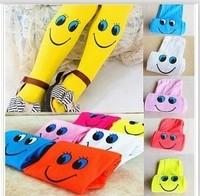 wholesale Children's smiling face render pantyhose princess dress made of pure cotton socks Leggings Free shipping