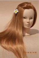 """100% High temperature fiber 26""""  training mannequin head /practice head / can manke up head with clamp free shiping"""
