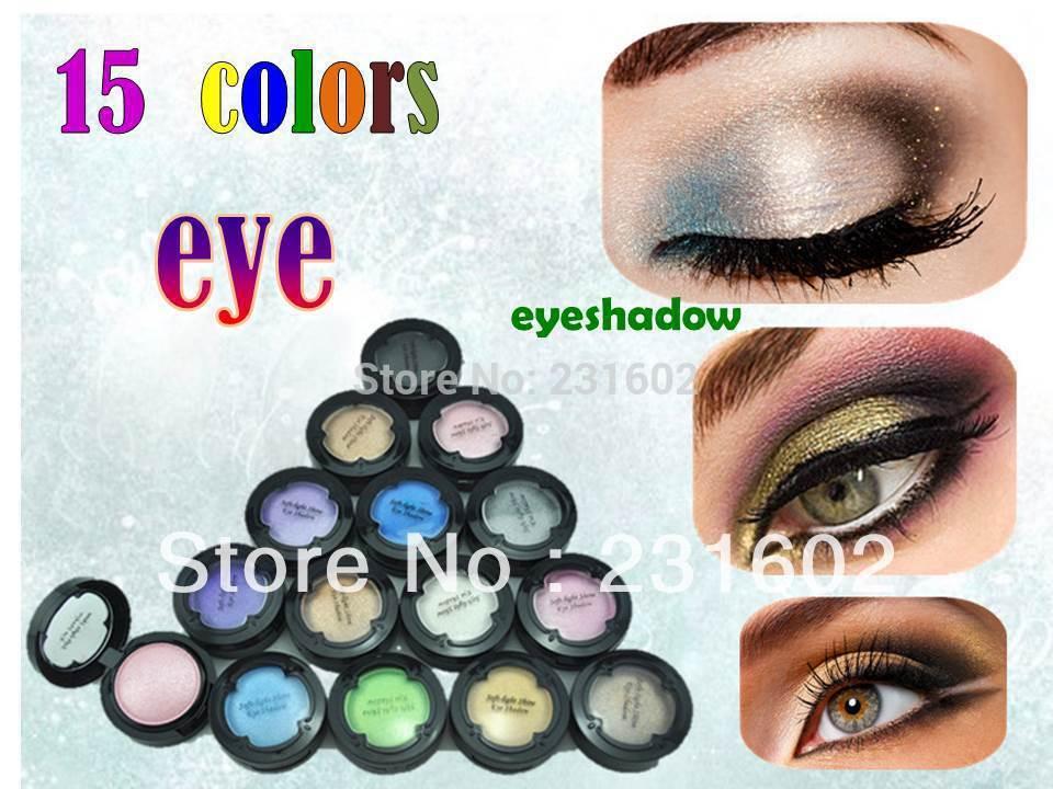 15pcs/lot lanmei luminous Single pigment Eye Shadow in 15 Color eyeshadow makeup(China (Mainland))
