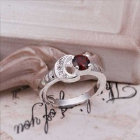 Wholsesale 925 Silver Ring 925 Silver Fashion Jewelry Ring Inlaid stone moon Ring SMTR262